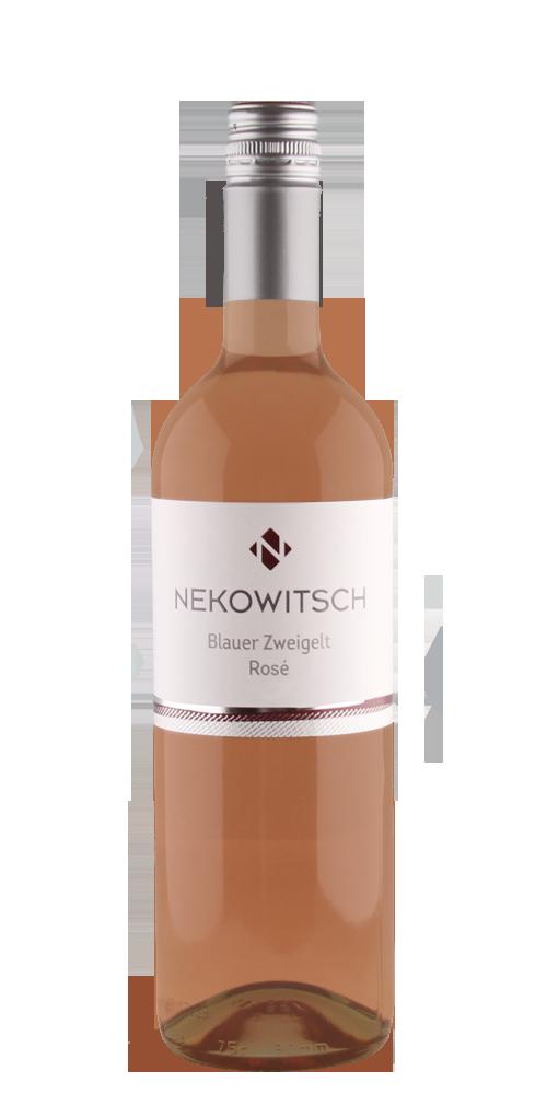 Nekowitsch Blauer Zweigelt Rose Weinflasche